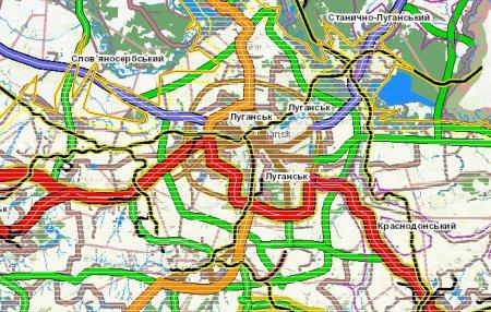 Транспортна схема Луганської області